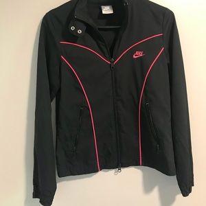 Nike Sportswear Zipper Jacket Black With Hot Pink